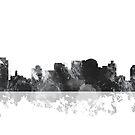 Nashville, Tennessee Skyline - schwarz und weiß von Marlene Watson