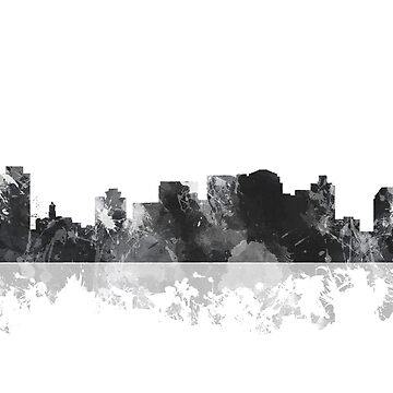 Nashville, Tennessee Skyline - Black and White by marlenewatson