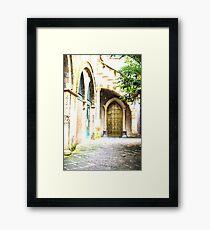 Moroccan Walkway Framed Print