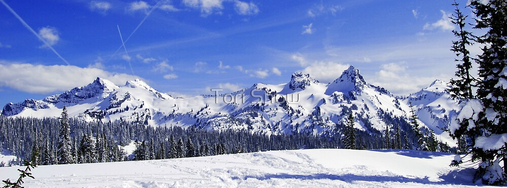Beautiful Tatoosh Mountain Range by Tori Snow