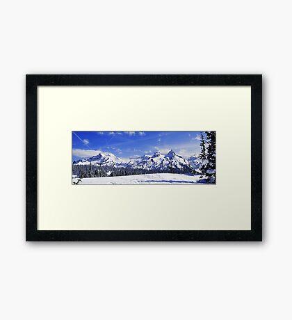 Beautiful Tatoosh Mountain Range Framed Print