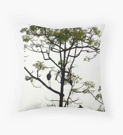Giant Indian Storks Throw Pillow
