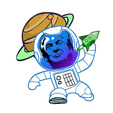Space FARCE - A Funny Pew Pew Anti Trump Space Force T shirt by CliqueBank