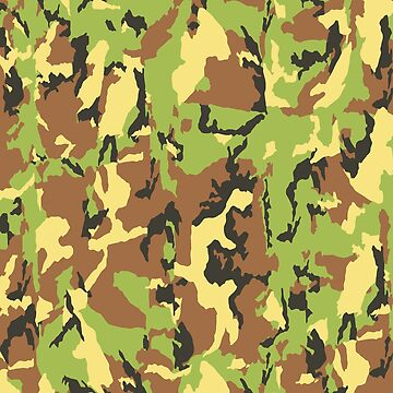 Army Color Green Brown Camouflage by 108dragons