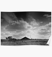 Pyramids in the countryside Poster