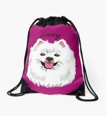 Lacey (custom name) American Eskimo Drawstring Bag