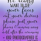 Wedding Photography 5 - Purple by Jessica Cushen