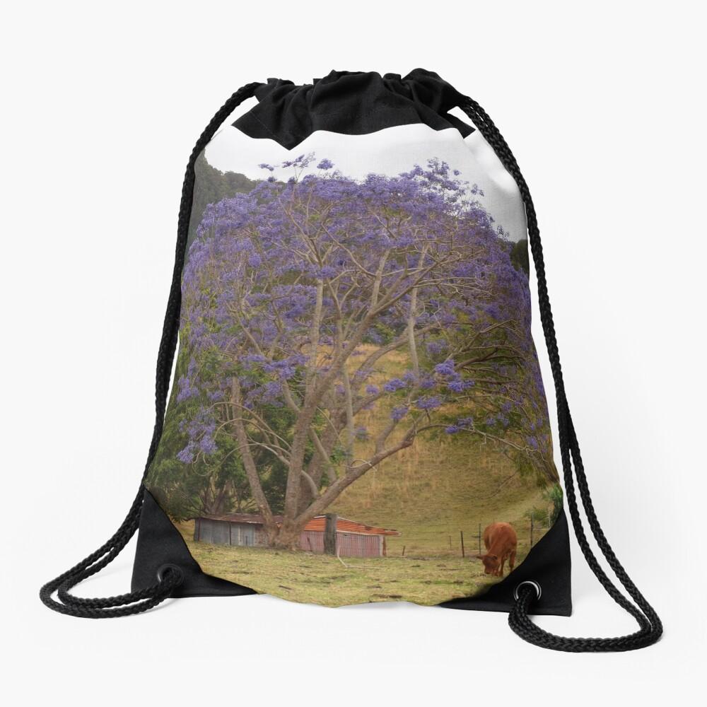 Rural Jacaranda Drawstring Bag
