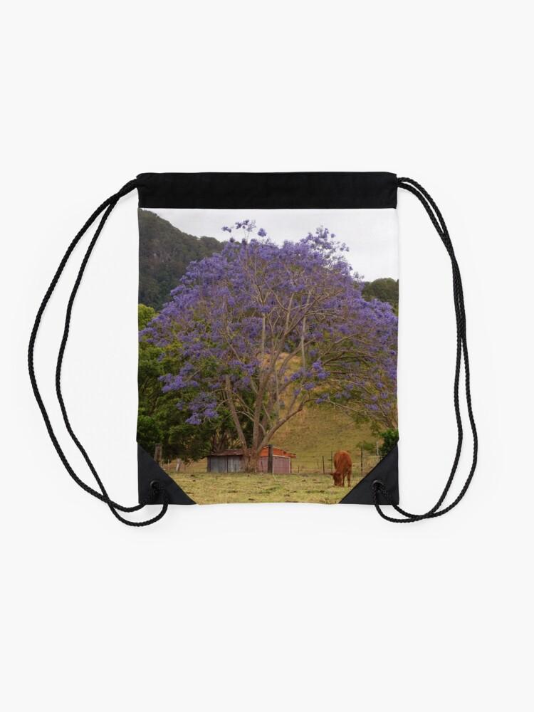 Alternate view of Rural Jacaranda Drawstring Bag