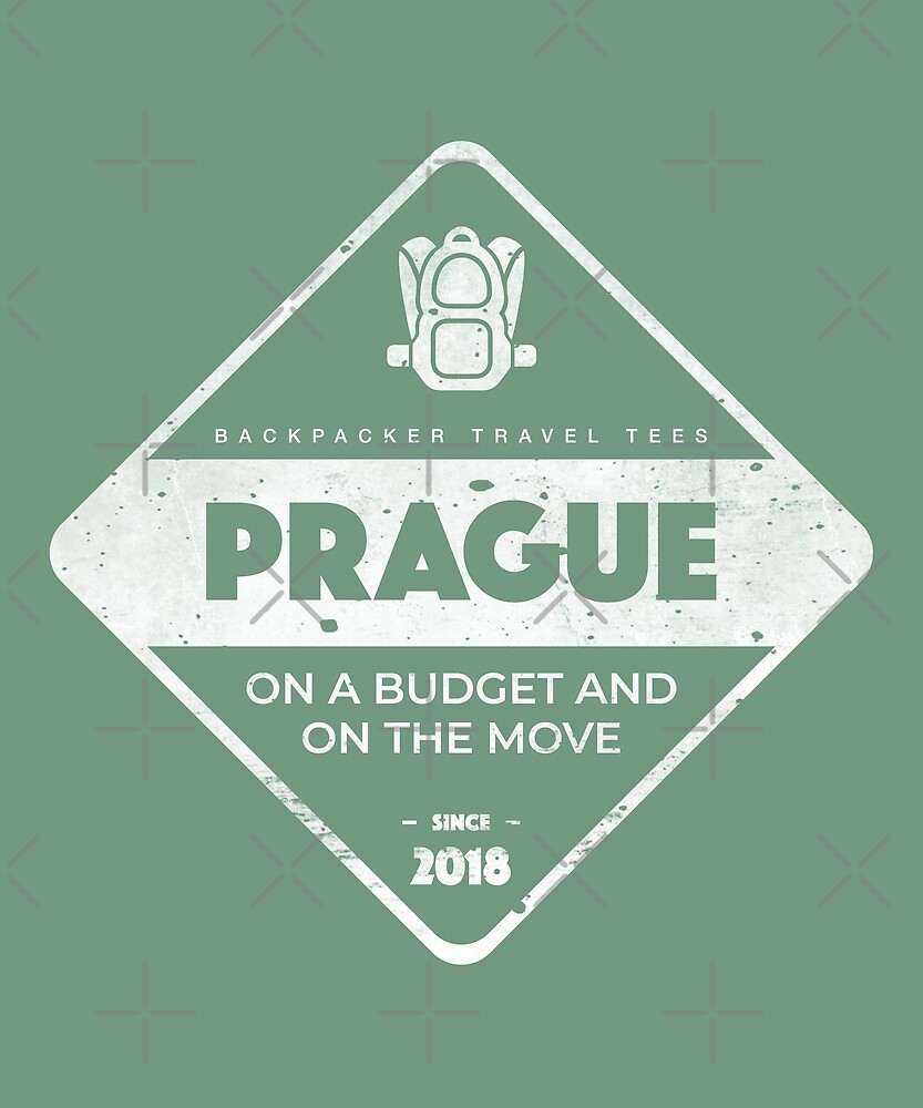Prague Backpackers T-Shirt by designkitsch