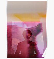 Portrait woman fantasy analog film double exposure Poster