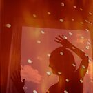 Dancer night stars fantasy analog film double exposure by edwardolive