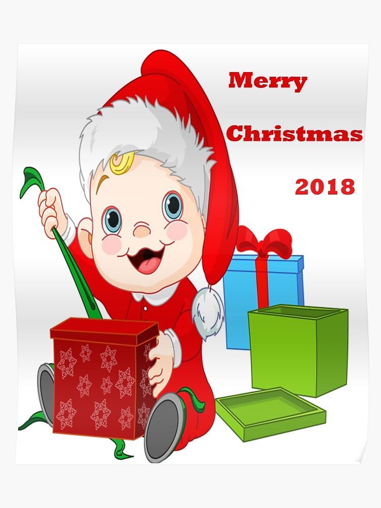 Merry Christmas Poster 2018.Merry Christmas 2018 Poster