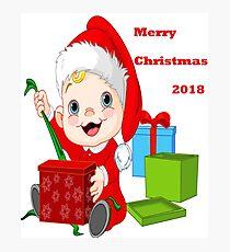 Merry Christmas 2018 Photographic Print