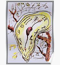 MELTED CLOCK: Jahrgang 1968 abstrakte surreale Dali Sketch Poster