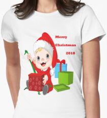 Merry Christmas 2018 Women's Fitted T-Shirt