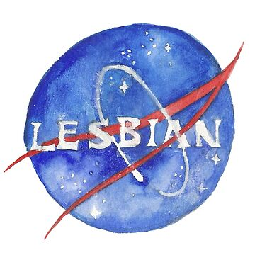 Space Lesbian Logo by mide-erickson