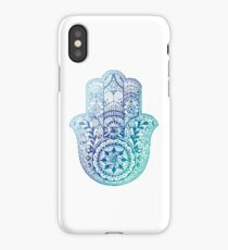 Blue Hamsa iPhone Case/Skin