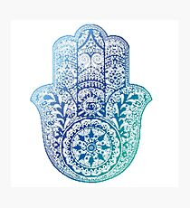 Blue Hamsa Photographic Print