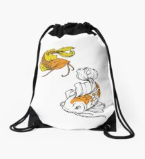 Koi Fish Drawstring Bag