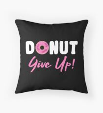Donut Give Up Floor Pillow