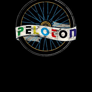 Peloton Wheel Italian Retro Vintage Bicycling Distressed by zot717