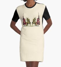 four noble knights on horseback with lance and sword Graphic T-Shirt Dress
