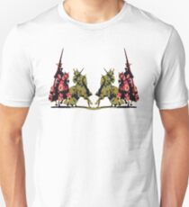 four noble knights on horseback with lance and sword Unisex T-Shirt