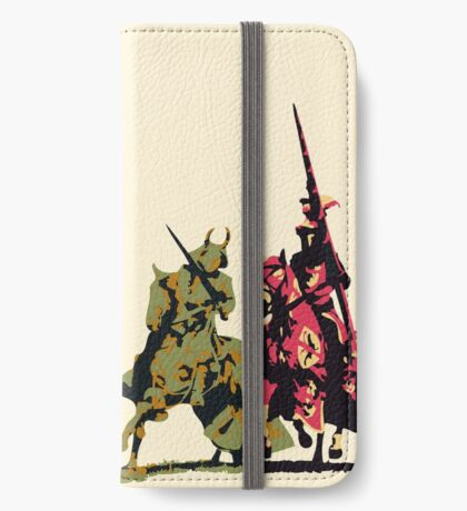 four noble knights on horseback with lance and sword iPhone Wallet