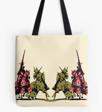 four noble knights on horseback with lance and sword Tote Bag