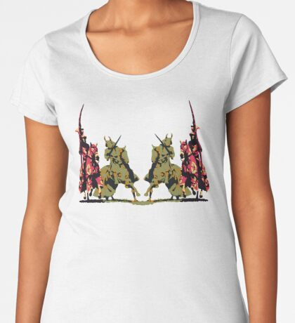 four noble knights on horseback with lance and sword Women's Premium T-Shirt