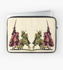 four noble knights on horseback with lance and sword Laptop Sleeve