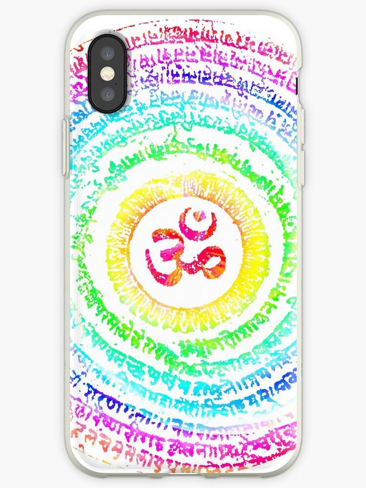 'Psychedelic Trance Symbol' iPhone Case by metaminas