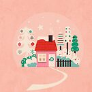 Festive Winter Hut in pink by ShowMeMars
