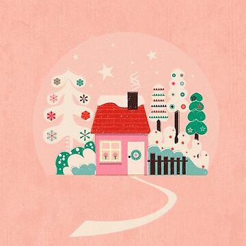 Festive Winter Hut in pink by ShowMeMars