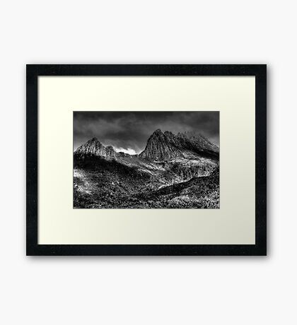Cradle  Mountain -(Monochrome) Cradle Mountain National Park - The HDR Experience Framed Print
