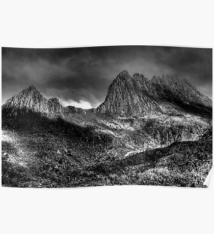 Cradle  Mountain -(Monochrome) Cradle Mountain National Park - The HDR Experience Poster