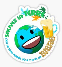 Save the planet, it's the only planet with beer Sticker