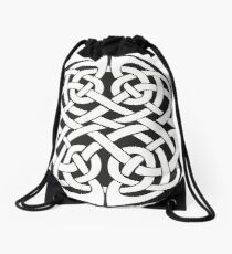 Round Celtic Knot Drawstring Bag