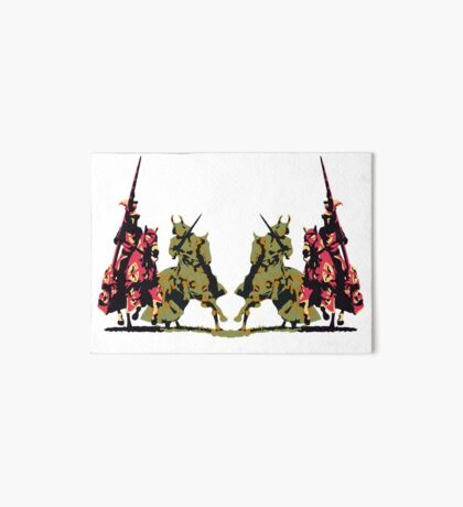 four noble knights on horseback with lance and sword Art Board