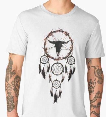 Summoning circle pentagram - Dreamcatcher Men's Premium T-Shirt