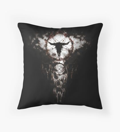 Summoning circle pentagram - Dreamcatcher Throw Pillow