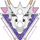 Dragon Skull Pink and Purple by LPDesignsAndArt