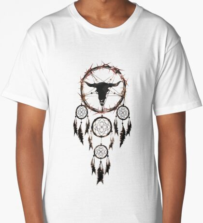 summoning circle pentagram - dream catcher Long T-Shirt