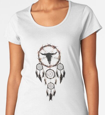summoning circle pentagram - dream catcher Women's Premium T-Shirt