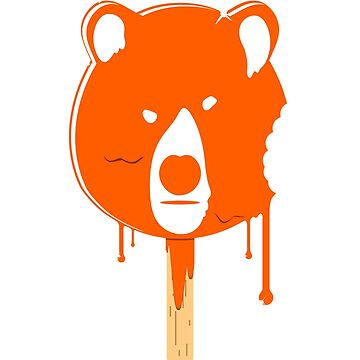 Melting Orange Ice Cream Bear by wearbaer