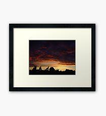 Summer Sunset in a London Suburb (2) Framed Print
