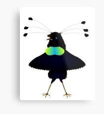 Bop the Ballerina Bird Metal Print