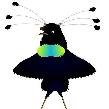 Bop the Ballerina Bird by ArtwithDog