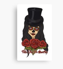 TopHat La Catrina - Dia De Los Muertos Canvas Print